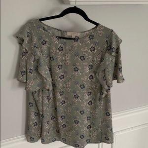 Loft flutter sleeve blouse. Size XXL